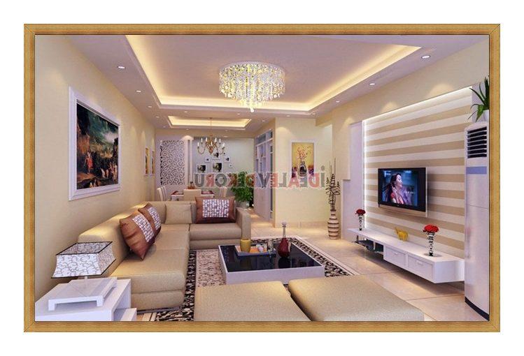 lüks salon dekorasyon örnekleri ve tv arkası duvar örnekleri 2017 ...
